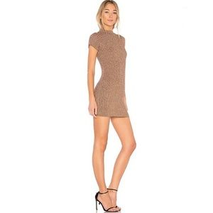 🔥For Love and Lemons • Gold Knit Bodycon Dress